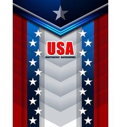 american backgrounds modern design vector image vector image