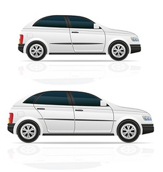 car hatchback 03 vector image vector image