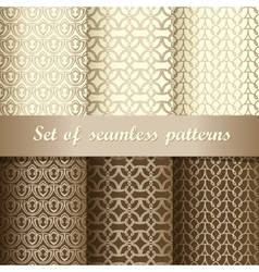 Set of seamless patterns 1 vector image vector image