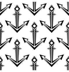 Stylized nautical anchors seamless pattern vector image