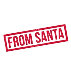 From santa rubber stamp vector