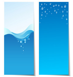 Set of abstract water banners vector image