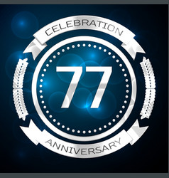 seventy seven years anniversary celebration with vector image