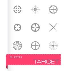 target icons set vector image vector image