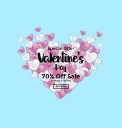 Valentines day card or sale banner 3 vector