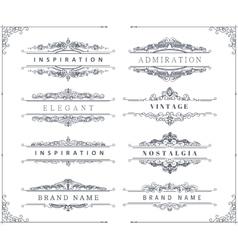 Vintage calligraphic ornaments and frames vector image vector image