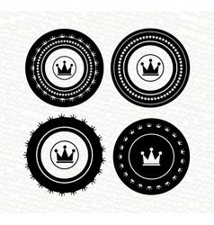 Vintage retro empty labels badges stamps icon vector image vector image