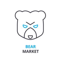 bear market concept outline icon linear sign vector image vector image