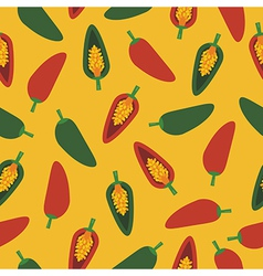 chilli pepper pattern vector image vector image