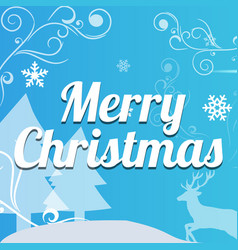 christmas typographical on background vector image vector image