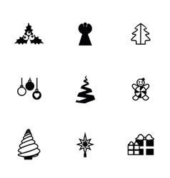 Cristmas trees icon set vector image vector image