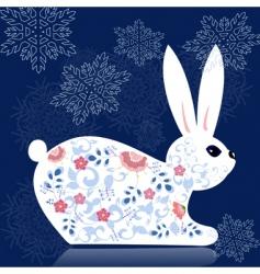 decorative bunny vector image vector image