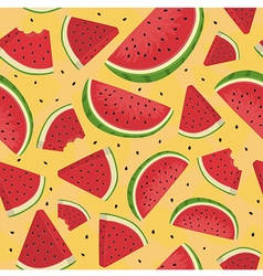 Seamless Pattern Watermelon Slice Orange vector image vector image