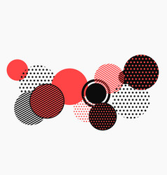 abstract black and red geometric shape pattern vector image