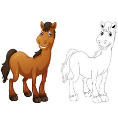 Animal doodle for horse vector