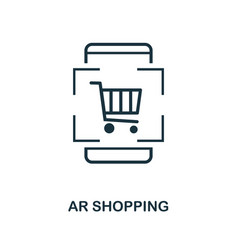 Augmented reality shopping icon monochrome style vector