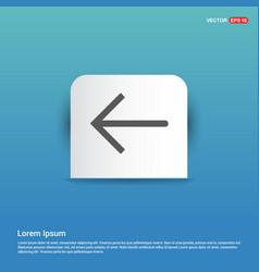 back icon - blue sticker button vector image