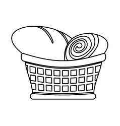 Bakery goods basket vector