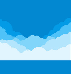 blue sky with clouds cartoon background bright vector image