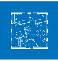 Blueprint apartment vector