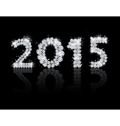 Brilliant text for the new year 2015 background vector image