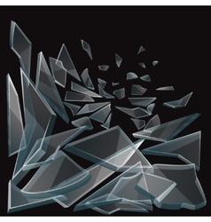 Broken glass pieces flow vector