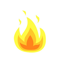 Burning flame tongues isolated icon of fire vector