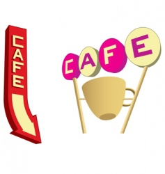 Cafe signs vector