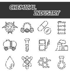 Chemical industry icon set vector