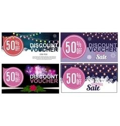 Christmas Sale Discount Voucher Banner Background vector