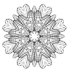 circular abstract coloring book mandala element vector image
