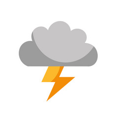 Cloud with thunder ray isolated icon vector