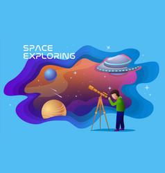 Concept space exploring vector