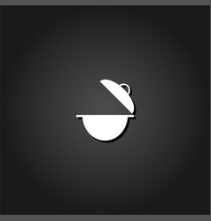 cooking pan icon flat vector image