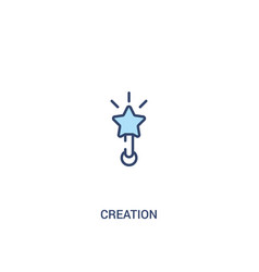 creation concept 2 colored icon simple line vector image