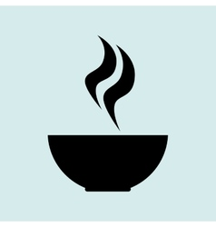 cup coffee smoke icon vector image