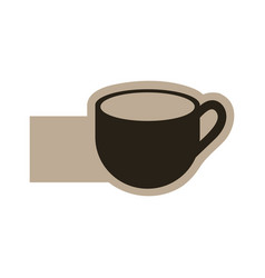 dark contour cup icon vector image