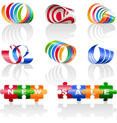 Decorative colorful elements for the logo vector image