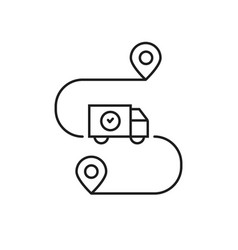 Delivery goods on time linear icon vector