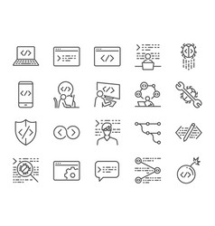 Developer icon set vector