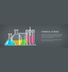 flasks and beakers banner vector image