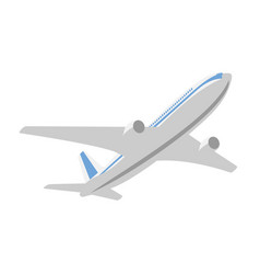 flying passenger plane on a white background vector image