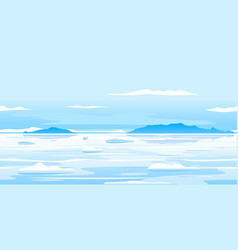 frozen arctic ocean landscape background vector image