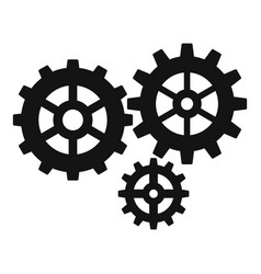 gear cog icon simple style vector image