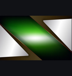 Geometric design of a green hue with a metal mesh vector