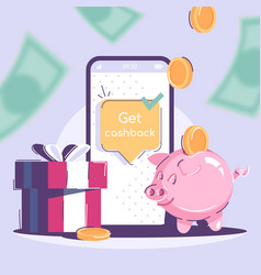 get cashback social media post mockup money vector image