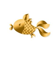 Gold fish Art Nouveau style vector