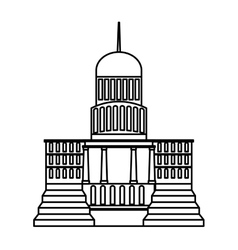 Government building isolated icon vector