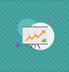 Graph monitoring growth satistics flat illu vector