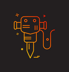 hammer jack labor icon design vector image